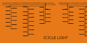 Luz de icicle LED KARNAR INTERNATIONAL GROUP LTD