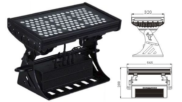 Guangdong vodio tvornicu,vodio svjetlo tunela,250W kvadratni IP65 DMX LED zidni perač 1, LWW-10-108P, KARNAR INTERNATIONAL GROUP LTD
