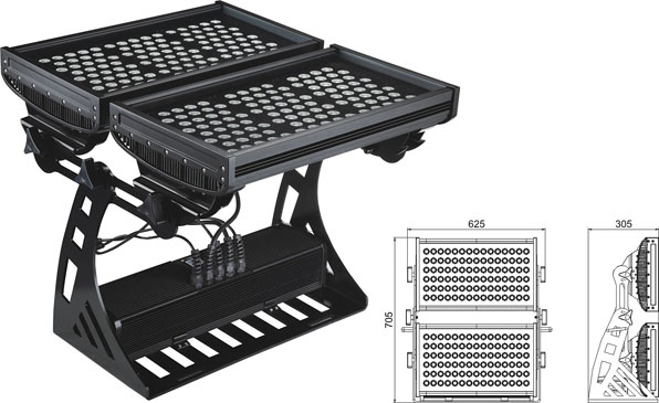 Guangdong vodio tvornicu,LED svjetlo od poplave,250W kvadratni IP65 DMX LED zidni perač 2, LWW-10-206P, KARNAR INTERNATIONAL GROUP LTD