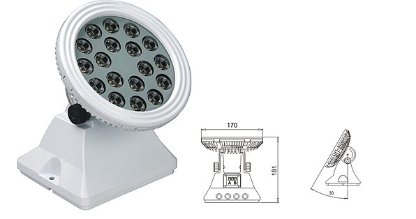 Led DMX argia,LED uholdeen argiak,25W 48W LED korapiloko paretaren garbigailua 1, LWW-6-18P, KARNAR INTERNATIONAL GROUP LTD