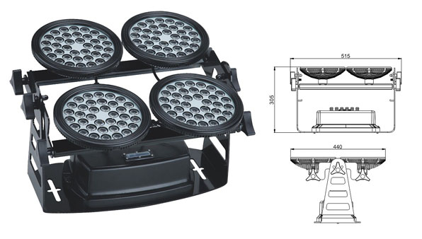 Led DMX argia,LED harraskagailu argia,155W LED horma-garbigailua 1, LWW-8-144P, KARNAR INTERNATIONAL GROUP LTD