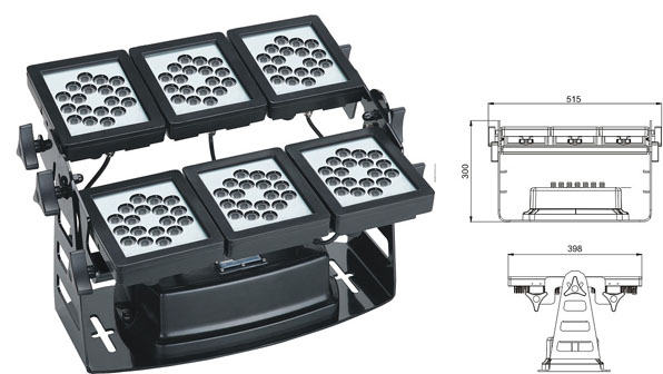 ዱካ dmx ብርሃን,የ LED ግድግዳ ማጠቢያ ብርሀን,220W ካሬ LED flood flood 1, LWW-9-108P, ካራንተር ዓለም አቀፍ ኃ.የተ.የግ.ማ.