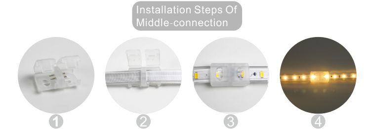 Guangdong dipimpin pabrik,Strip memimpin fleksibel,110V AC No Wire SMD 5730 LED ROPE LIGHT 10, install_6, KARNAR INTERNATIONAL GROUP LTD