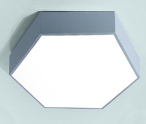 Guangdong dipimpin pabrik,Lampu kilat LED,Hexagon 18W dipimpin cahya langit-langit 7, blue, KARNAR INTERNATIONAL GROUP LTD