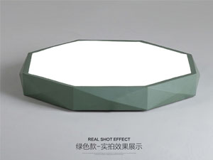 Guangdong vodio tvornicu,Boja makarona,18W Hexagon je vodio stropnu svjetlost 4, green, KARNAR INTERNATIONAL GROUP LTD