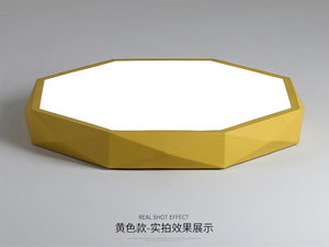 Guangdong dipimpin pabrik,Warna Macarons,15W Hexagon ngetokake lampu langit-langit 6, yellow, KARNAR INTERNATIONAL GROUP LTD