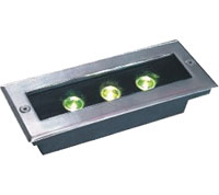 Guangdong dipimpin pabrik,Lampu bawah tanah LED,1W Square Buried Light 6, 3x1w-120.85.55, KARNAR INTERNATIONAL GROUP LTD
