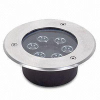 Guangdong dipimpin pabrik,Lampu jalanan LED,12W Square Buried Light 3, 6x1W, KARNAR INTERNATIONAL GROUP LTD