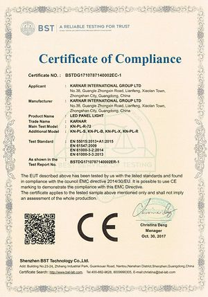 Certificado KARNAR INTERNATIONAL GROUP LTD